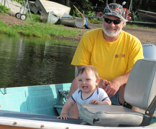 Grandpa Takes Anthony for a Boat Ride