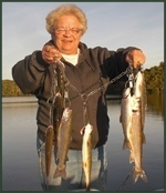Nancy's Stringer of Trout