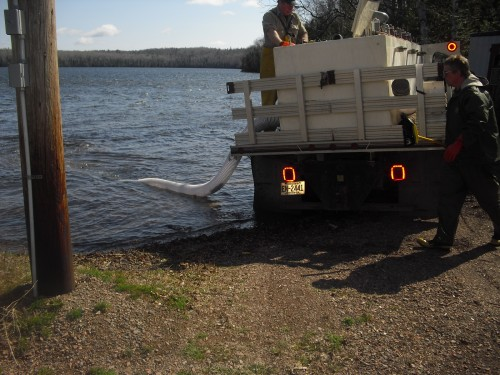 DNR Stocks Trout Lake with Rainbows