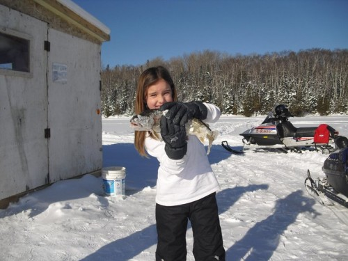 A Great Day Ice Fishing for Kids on Trout Lake
