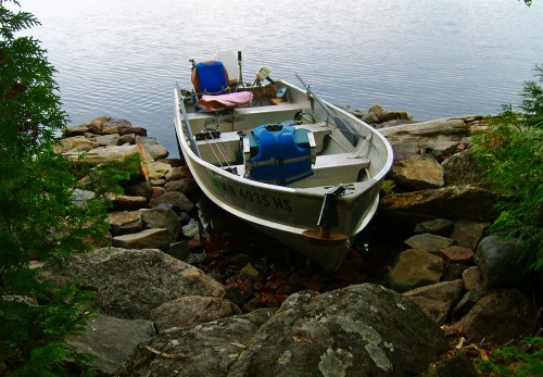 Cabin 1 Boat on Shore