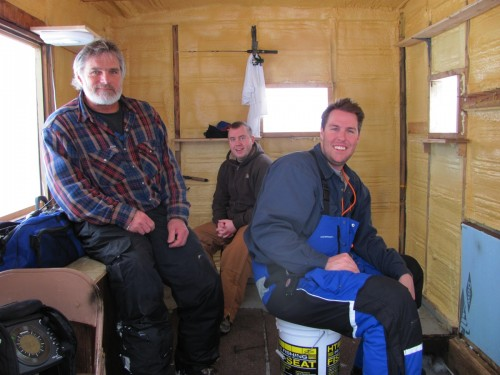Heated Ice Fishing House Inside